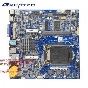 China DC LGA1150 Motherboard Intel H81 , Mini ITX DC Board H81 Industry Usage wholesale