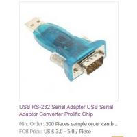 China USB RS-232 Serial Adapter USB Serial Adaptor Converter Prolific Chip wholesale