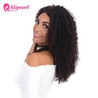 China Afro Curly 100 Human Hair Lace Front Wigs , 8A Grade Wavy Lace Front Wigs wholesale