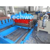 China High Speed Metal Tile Cold Roll Forming Machine With Servo Flying Cutting Type wholesale