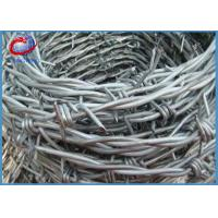 China Hot Dipped Galvanized Iron Double Twist Barbed Wire For Protecting Mesh wholesale