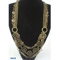 China Women's Metal Bulk Jewelry Claw Chain Antique Bronze Necklace for Party wholesale
