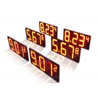 China Long Lifespan Red Digital Gas Station Price Signs Led 7 Segment Display wholesale