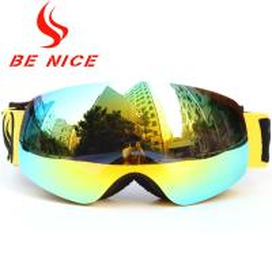 China Anti Impact Gold Kids Snowboard Goggles , Fashion High Visibility Ski Goggles wholesale