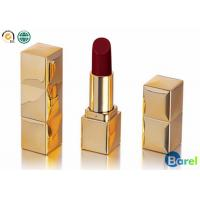 China Mental Gold Container Tube Long Lasting Matte Lipstick Stays On All Day wholesale
