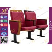 China Molded Foam Low Back Stadium Theater Seating With MDF Writing Pad Spring Return wholesale