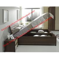 China Lift mechanism storage bed in classic wooden bedroom furniture wholesale