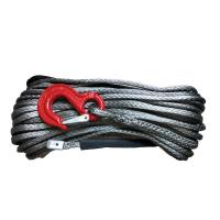 China 14mm X 30 Meters Synthetic Rope ,  High Strength Black Braided Winch Rope wholesale