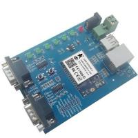China Hot WIFI to dual serial ports, WIFI to USB, WIFI networking evaluation board wifi module wholesale