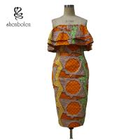 China Sleeveless Style Women Knee Length African Print Dresses For 18-45 Age wholesale