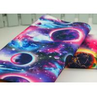 China Semi Bleached Patterned Polyester Fabric / Fine Twill Fabric For Traveling Bags wholesale