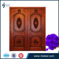 China Wooden exterior double swing opening doors for villa wholesale