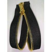 China Open End Brass Metal Teeth Zipper With Shiny Gold Color For Home Textile on sale