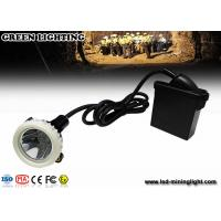 China 10000lux High Brightness LED Mining Headlamp , 3.7V 6.6Ah Underground Cap Lamps wholesale