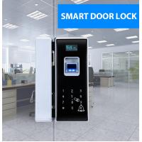 China Glass Door Electronic Door Locks With Fingerprint Password Remote Control on sale