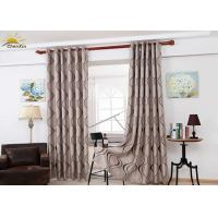 China Colorfast Decorative Jacquard Window Curtains With Embossed Pattern wholesale