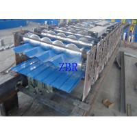 China Hydraulic Automatic Steel Tile Roll Forming Machine CNC Controlling System wholesale