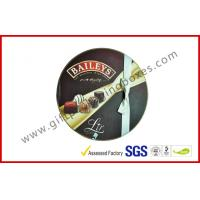 China Round Baileys Chocolate Gift Packaging Boxes With Offset Printing / Ribbon for Wedding Dress wholesale
