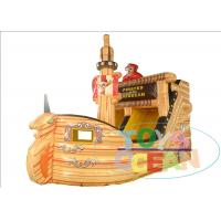 China Kids Party Inflatable Slides / Inflatable Pirate Boat Ship With Double Slide wholesale