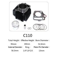 China Original Motorcycle Cylinder Kit C110 For Dayang Motor , Motorcycle Engine Parts wholesale