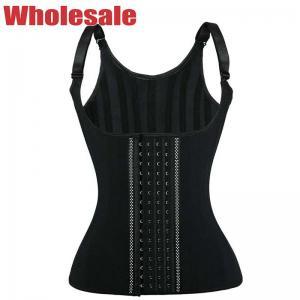 China Neoprene Bodybuilding Waist Trainer Adjustable Shoulder Strap Body Waist Cincher Vest wholesale
