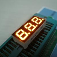 China Three Digit Mini 7 Segment LED Display Multiplexing For Indicator Yellow wholesale