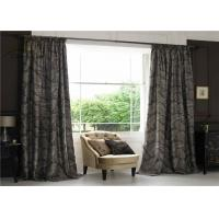 China Textile Jacquard Window Curtains / Commercial Blackout Curtains With Two Layers wholesale