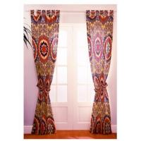 China  100% Polyester Window Panel Curtains , Light Blocking Curtains Different Colored  for sale