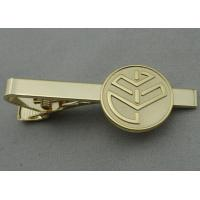 China  Aluminum, Stainless Steel, Copper Stamping Personalized Tie Bar, Collar Tie Bars With Gold Plating  for sale