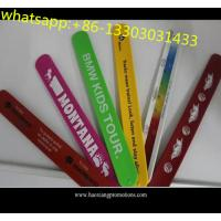 China High quality kids gifts CMYK colorful printed silicone slap wristband with cheap price wholesale