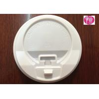 China 8oz / 12oz / 16oz White Color Coffee Cup Lids With A Cap / PS Material wholesale