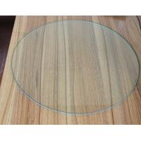 China Safety 4MM Round Tempered Glass , Furniture Clear Toughened Glass wholesale