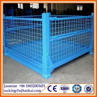 China Collapsible Stackable Steel Pallet Container, Warehouse Cage, Box, Stillage wholesale