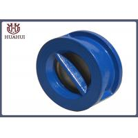 China Wafer Type Flanged Check Valve Blue Color Stainless Steel Stem Cast Iron Disc wholesale
