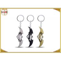 China Game Sword Silver Brass Colored Metal Tiny Key Rings For Promotion Zinc Alloy Material wholesale