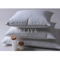 China Soft Queen Size Goose Down Filling Hotel Comfort Pillows with White Cover Fabric wholesale