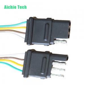 China 4 Way Trailer Hitch Wiring Harness Kit / 4-way Flat Connector plug wholesale