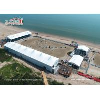 China High Peak Double Decker Tents With Tempered Glass Walls 8m Side Height wholesale