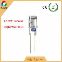 Buy cheap Super Brightness hight power 0.5W/1W 5mm Concave LEDs Diode White/Pink with short legs from wholesalers