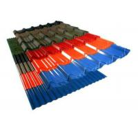 China Colors Coated Corrugated Roofing Sheets , Hot Rolled Corrugated Metal Panels wholesale