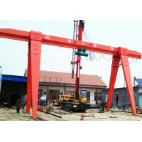 China A Frame Mobile Outdoor Gantry Crane Single Girder With Hoist 30 Ton Red Color on sale