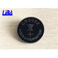 China Standard 3.0g Lithium Cell Battery , 240mAh Cr2032 3v Battery  For Camera wholesale
