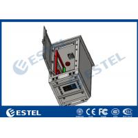 China 24U Single Wall Outdoor Telecom Cabinet With Fan Cooling Galvanized Steel Material wholesale