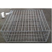 China Silver High Strength Gabion Wall Cages Anti Corrosion Square Hole Shape wholesale
