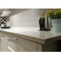 China Man Made White Color Quartz Stone Countertops With Sparkle SGS ISO9001 Approved wholesale