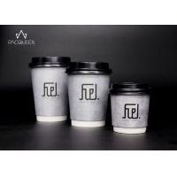 China Customized Printed Latte Paper Cup , Takeaway Hot Drink Cups Heat Resistant wholesale