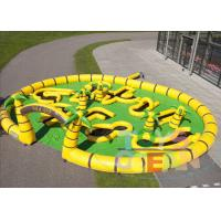 China Large Inflatable Golf Pitch Yellow And Green Color For Outdoor Sport  Games wholesale