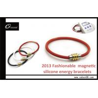 China Germanium Negative Ion Energy Silicone Bracelet for Sports to Better Concentration on sale