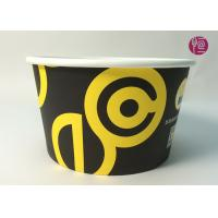 China 185mm Round Printed Paper Salad Bowls Take Away With PET Lid wholesale