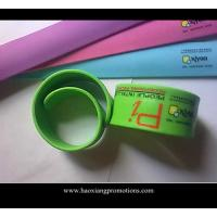 China newest colorful hot selling silicone slap wristband/paipai band with high quality wholesale